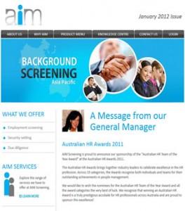 Aim Screening Newsletter