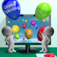 Grand Opening Balloons Showing New Online Store Launch